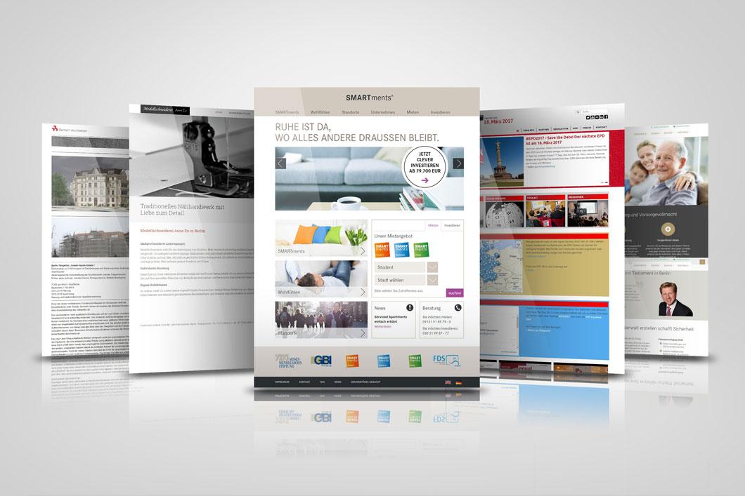 Referenzen erstellter Homepage für Selbständige und Unternehmer